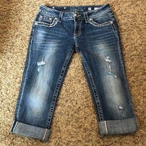 [Miss Me]Cuffed Capri Jeans